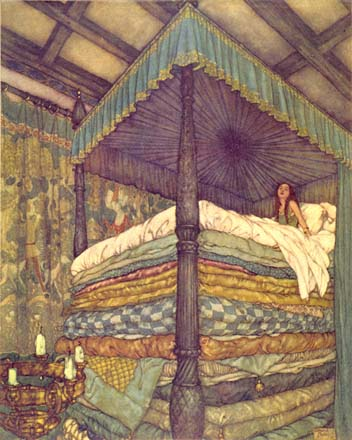 Edmund Dulac realprincess and pea