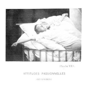 55 Régnard, Paul- Crucifiement. -in- Bourneville, Désiré Magloire; Régnard, Paul- Iconographie Photographique de la Salpêtrière. Paris, 1878, Tafel 25..jpg
