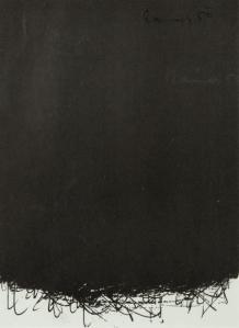 Arnulf Rainer (Austrian, b. 1929), Untitled, 1959. Lithograph in black, 19 x 14 cm.jpg